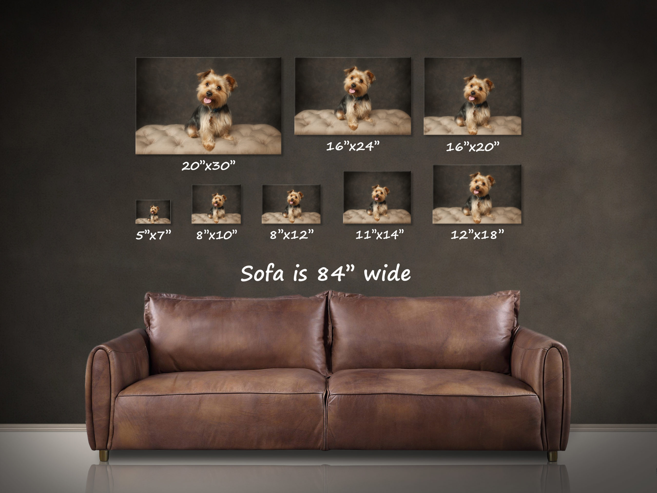 D20h brown leather sofa